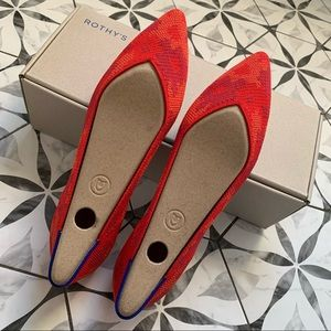 ROTHYS | NIB Red Botanicamo RETIRED Flats sz 8